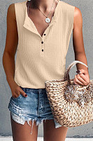 Casual Round Neck Sleeveless T-Shirt