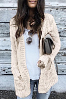Maternity Patchwork Long Sleeve Knit  Cardigan
