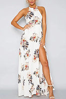 Bohemia Halter Slit Floral Maxi Dress