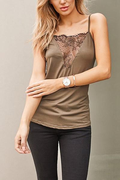 Sling  Regular  Brief  Plain Camis