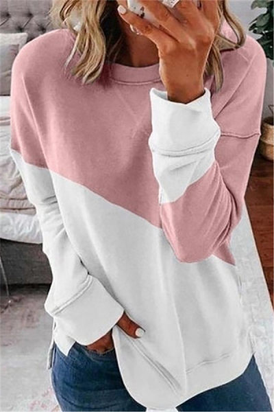 Round Neck Long Sleve Colouring T-shirt