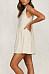 Round Neck  Loose Fitting  Plain  Sleeveless Skater Dresses