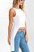 Round Neck  Asymmetric Hem Backless  Plain  Vests