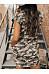 Round Neck  Camouflage  Short Sleeve Bodycon Dresses