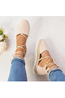 Plain  Flat  Velvet  Ankle Strap  Round Toe  Casual Date Flat Sandals