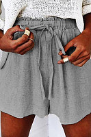 Loose Fitting  Plain  Casual Pants