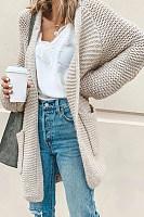 Casual Loose-Fitting Plain Cardigan