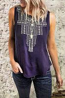 Round Neck Sleeveless T-Shirt