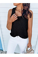 Casual Round-Neck Knit Sleeveless Vest