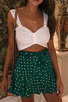 Fitted Basic Dot Skirts