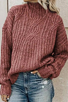 Short High Collar Plain Sweater