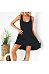 Scoop Neck Sleeveless Plain Asymmetrical Hem Casual Dresses