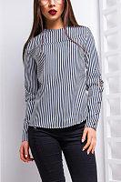 Round Neck  Decorative Buttons Shirts & Blouses