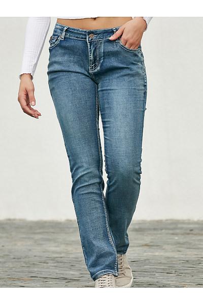 Lomg  Basic Plain Jeans