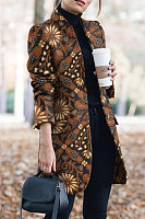 Women Casual Printed Outerwear