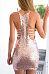 Sexy V Neck Curved Hem Sleeveless Party Dresses