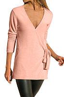 Sexy V Neck Plain Color Knit T-Shirts
