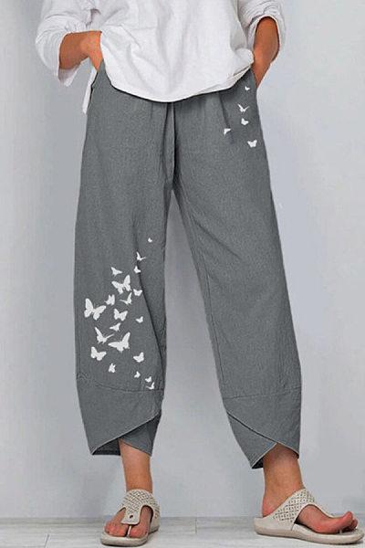 Women Loose-Fitting Butterfly Pants