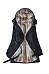 Hooded Flap Pocket Detachable Fleece Lined Coat