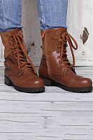 Vintage Casual Round Toe Boots