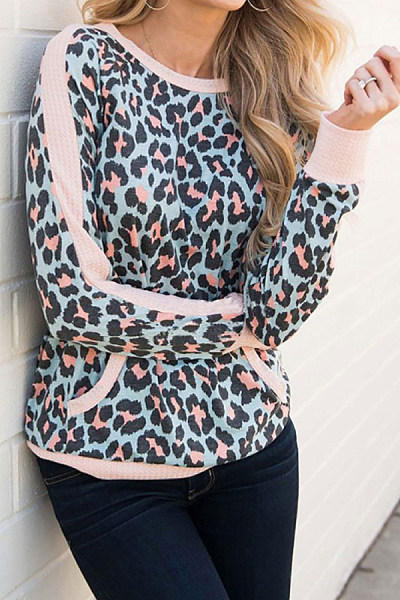 Fashion Leopard Print Loose Sweater