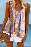 Round Neck Sleeveless Solid Color Tank