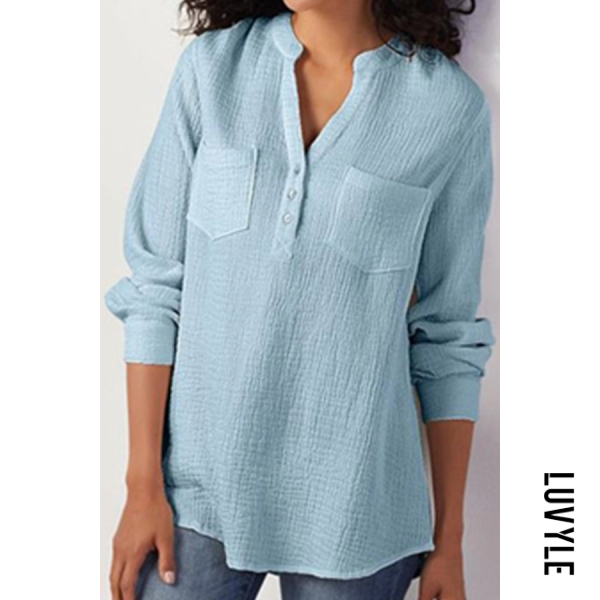 Topshe Long Sleeve Loose Blouse