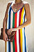 Spaghetti Strap  Color Block Striped  Sleeveless Maxi Dresses