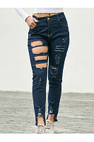 Long Blend  Plain Jeans