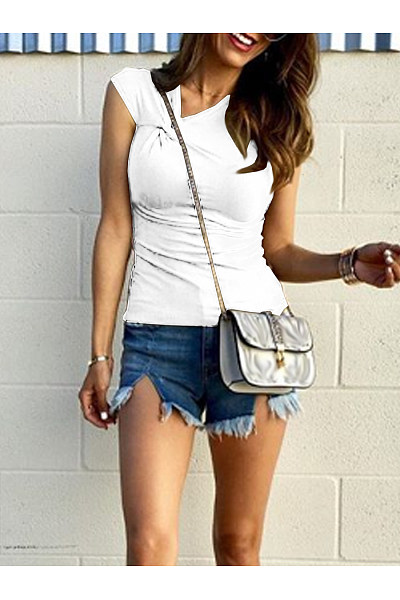 Fashion Knotted Short Sleeved T-Shirt