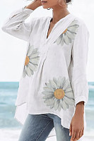 Daisy V Neck Long Sleeve Blouse