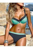 Lightweight  Plain  High-Rise Bikini
