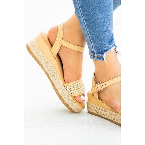 Bohemian  Peep Toe  Date Travel Wedge Sandals