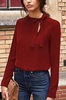 Collar Bow Long Sleeve T-Shirt