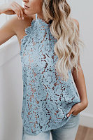 Hollow Out Lace Sleeveless Top