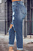 Long Sheath  Plain  Jeans