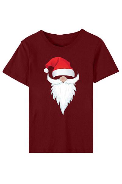 Christmas Printed Round Neck T-Shirt