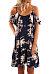 Spaghetti Strap  Flounce Ruffled Hem  Floral Printed Casual Dresses