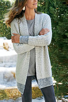 Casual temperament knitted jacket cardigan Nordic style