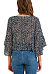 Round Neck  Printed  Bell Sleeve  Blouses