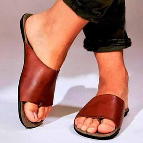 Women's retro comfortable flat bottom sandals