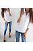 Lapel Button Pocket Half Sleeves Casual Blouses