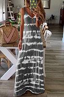 Crew Neck Stripe Sling Maxi Dress