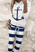 Women's casual alphabet print sports suit