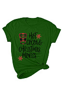 Christmas Printed Round Neck T-Shirt