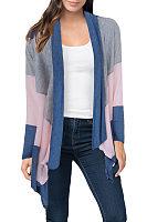 Asymmetric Hem Snap Front  Color Block Cardigans