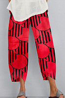 Loose printed casual pants