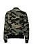 Band Collar Pocket  Camouflage Bomber Jacket