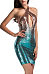 Halter  Backless  Glitter  Gradient Party Dresses