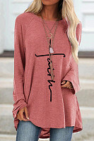 Christian Letters Loose Casual T-shirt